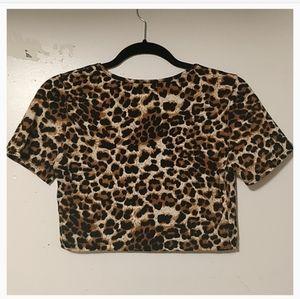 Forever 21 leopard print crop top